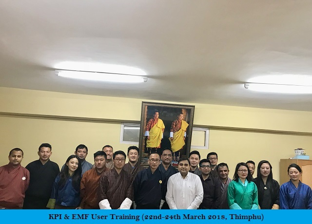 KPI & EMP User Training (22-24 March 2018, Thimphu)