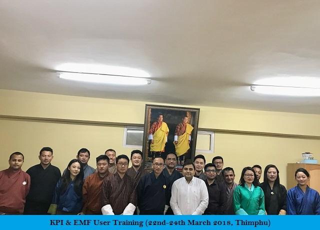 KPI & EMP User Training (22-24 March 2018, Thimphu)