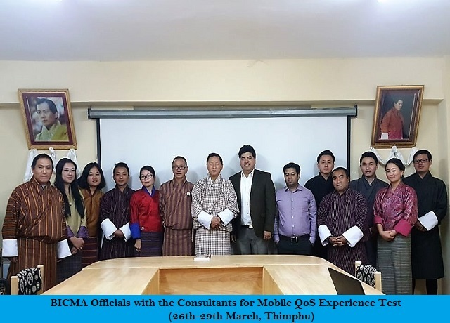 Mobile QoS Experience Test (26-29 March, Thimphu)